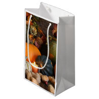 Still Life Harvest  Decoration For Thanksgiving Small Gift Bag