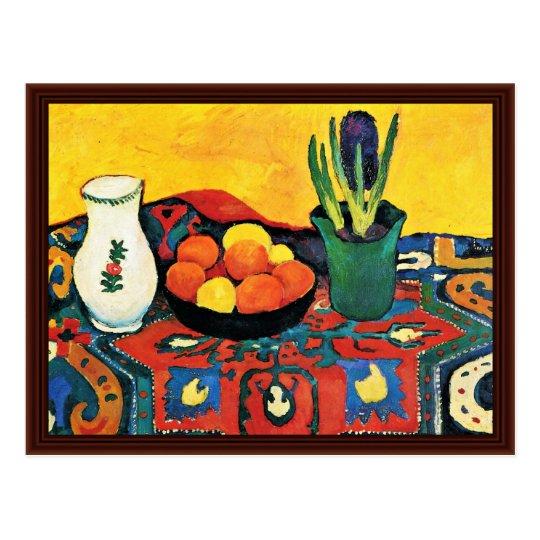 Still Life: Hyacinth Rug By Macke August Postcard