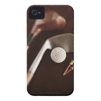 Still life if vintage golf clubs, tees and ball. iPhone 4 cover