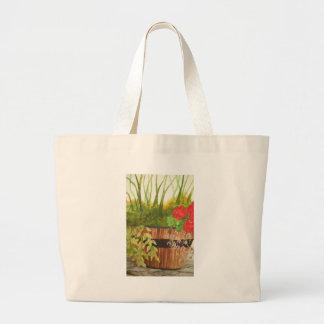 still life in a bucket bag