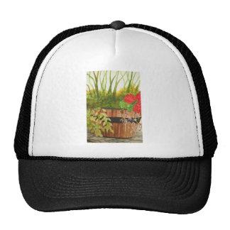 still life in a bucket hats