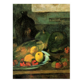 Still life in front of a stitch - Paul Gauguin Post Cards