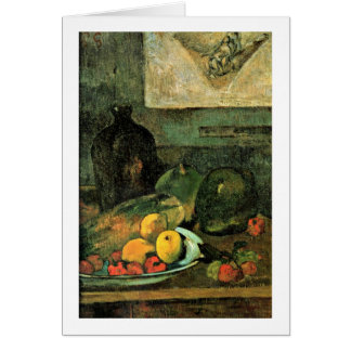 Still Life In Front Of Stitch By Paul Gauguin Cards