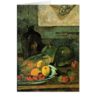 Still Life In Front Of Stitch By Paul Gauguin Greeting Card