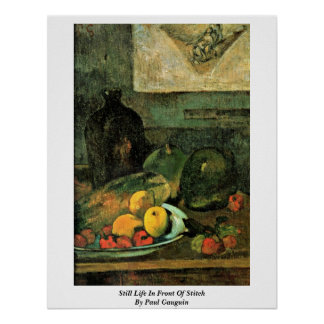 Still Life In Front Of Stitch By Paul Gauguin Poster