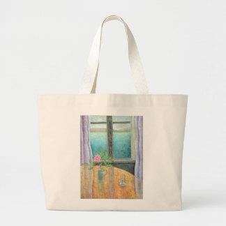 Still Life in Window with Camellia 2012 Large Tote Bag
