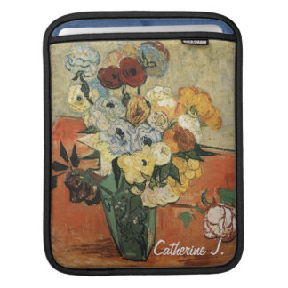Still life -Japanese Vase with Roses and Anemones iPad Sleeves