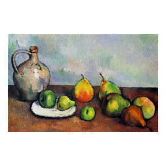 Still Life, Jar and Fruit by Paul Cezanne Poster