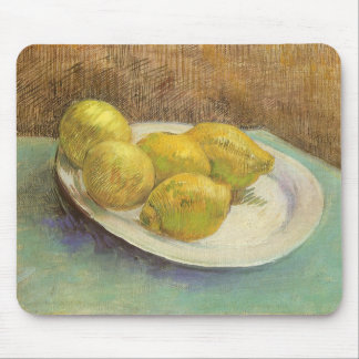 Still Life Lemons on a Plate by Vincent van Gogh Mouse Pad