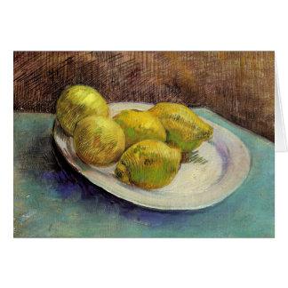 Still Life, Lemons on Plate, Van Gogh Fine Art Card