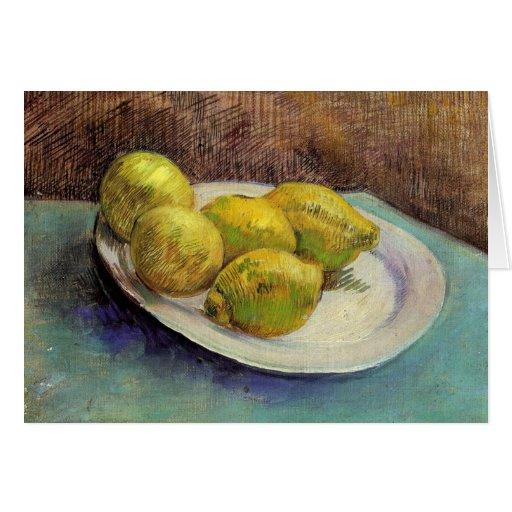Still Life, Lemons on Plate, Vincent van Gogh Greeting Cards