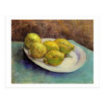 Still Life, Lemons on Plate, Vincent van Gogh Postcard