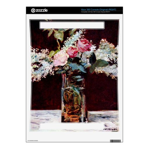 Still life, lilac and roses by Edouard Manet Xbox 360 Console Decals