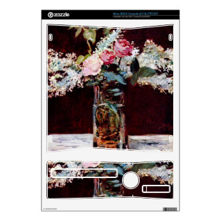 Still life, lilac and roses by Edouard Manet Decals For The Xbox 360 S