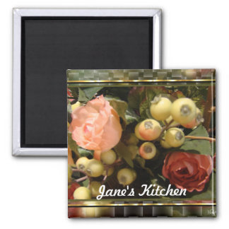 Still Life magnet-customize 2 Inch Square Magnet