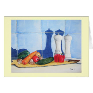 still life mixed vegatable painting blank art card