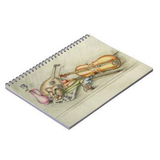 Still life music notebook