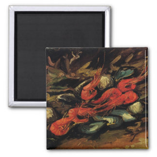 Still Life Mussels and Shrimp by Vincent van Gogh Magnet