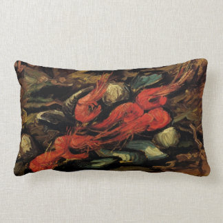 Still Life Mussels and Shrimp by Vincent van Gogh Throw Pillow