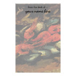 Still Life Mussels and Shrimp by Vincent van Gogh Stationery