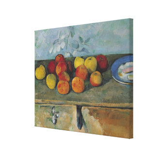 Still life of apples and biscuits, 1880-82 canvas print