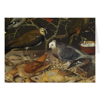 Still Life of Birds and Insects, 1637 Card