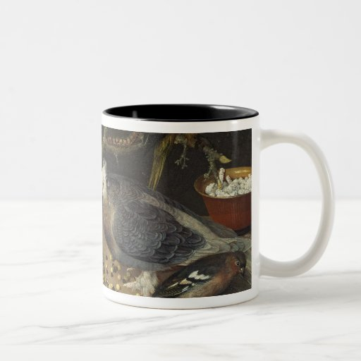 Still Life of Birds and Insects, 1637 Two-Tone Coffee Mug