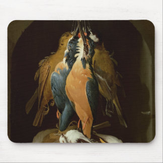 Still life of birds mouse pad