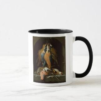 Still life of birds mug
