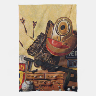 Still Life of Boys Toys Kitchen Towel