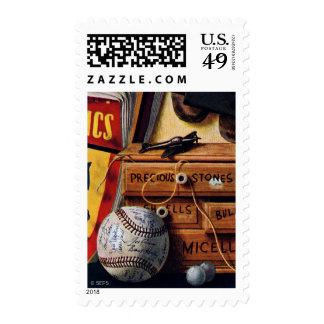 Still Life of Boys Toys Postage Stamps