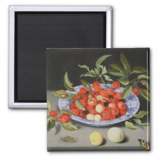 Still Life of Cherries and Peaches Magnet