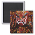 Still life of Chinese mask decoration 2 Inch Square Magnet