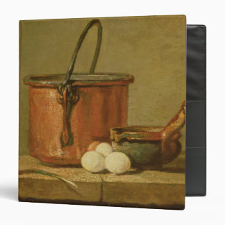 Still Life of Cooking Utensils, Cauldron 3 Ring Binder