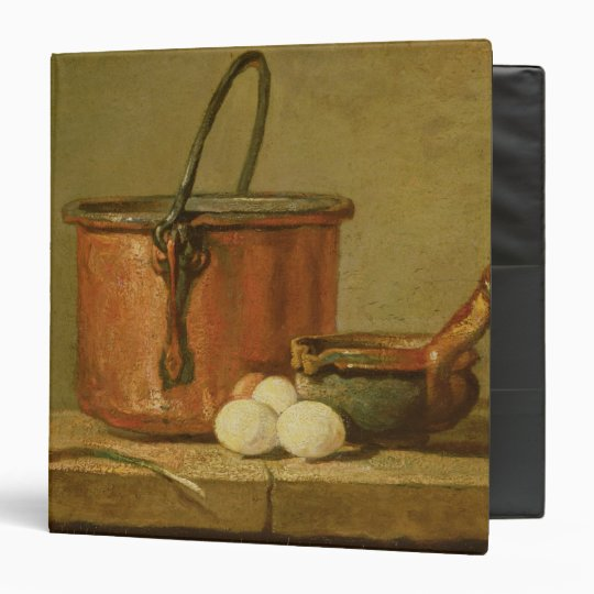 Still Life of Cooking Utensils, Cauldron 3 Ring Binder