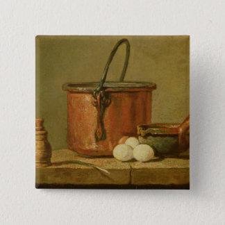 Still Life of Cooking Utensils, Cauldron Button