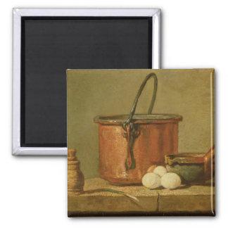 Still Life of Cooking Utensils, Cauldron Refrigerator Magnets