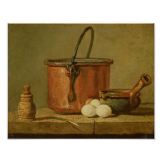 Still Life of Cooking Utensils, Cauldron Poster
