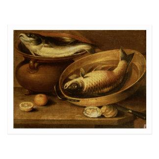 Still Life of Fish and Lemons Postcard