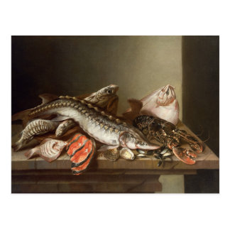 Still Life of Fish on a Table Postcard