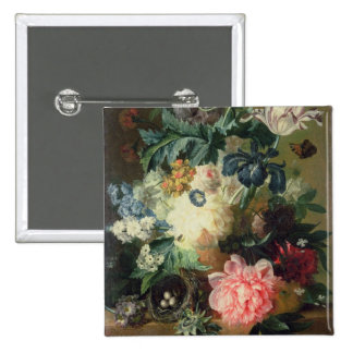 Still Life of Flowers 2 2 Inch Square Button