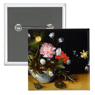 Still Life of Flowers 2 Inch Square Button