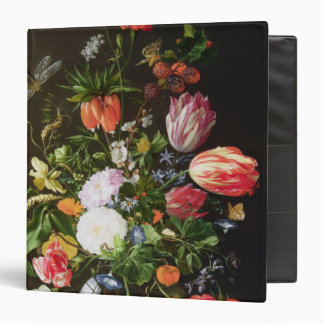 Still Life of Flowers 3 Ring Binder