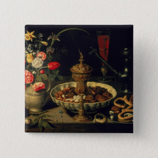 Still Life of Flowers and Dried Fruit, 1611 Button