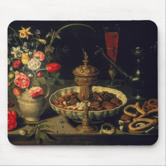 Still Life of Flowers and Dried Fruit, 1611 Mouse Pad