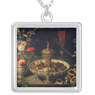 Still Life of Flowers and Dried Fruit 1611 Jewelry