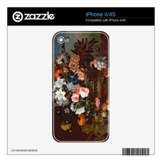 Still Life of Flowers in a Basket Decal For iPhone 4
