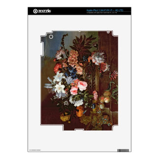 Still Life of Flowers in a Basket iPad 3 Decal