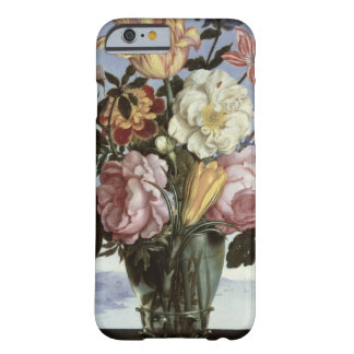 Still life of flowers in a drinking glass barely there iPhone 6 case