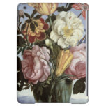 Still life of flowers in a drinking glass iPad air covers